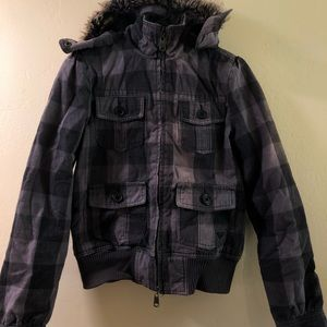 Roxy quilted flannel jacket